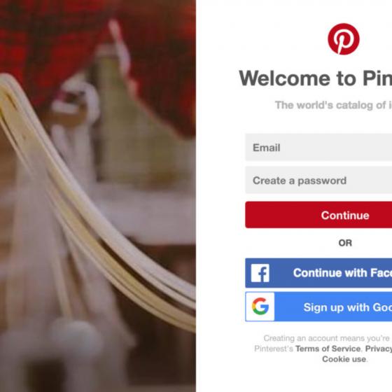 วิธีการเข้าใช้งาน Pinterest