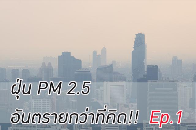 ฝุ่น PM 2.5 อันตรายกว่าที่คิด!! Ep.1