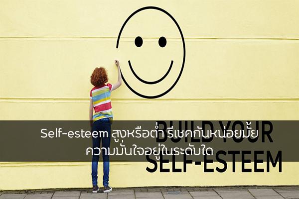 Self-esteem สูงหรือต่ำ รีเชคกันหน่อยมั้ย ความมั่นใจอยู่ในระดับใด เรื่องทั่วไป เกร็ดความรู้รอบตัว เทคนิคต่างๆ สาระน่าสนใจ Self-esteem